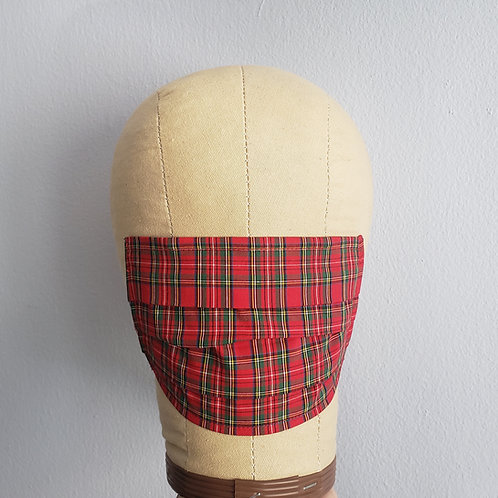 Red Plaid Facemask