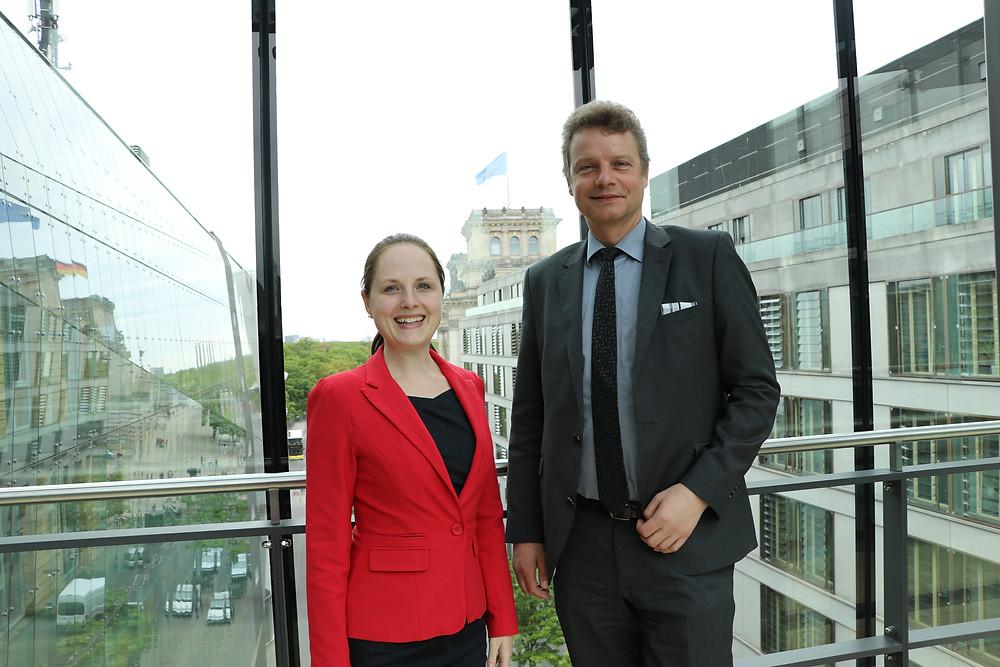 Jens Beeck und Jaennine Budelmann.