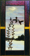 Hummingbird With Cardinal Flower