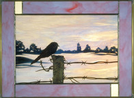Chickadee on Barbed Wire