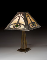 Arts & Crafts Style Rose Lamp