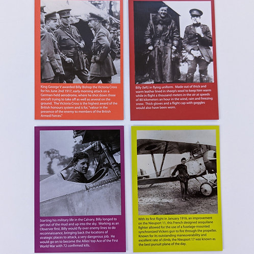 Billy Bishop 4 Pack Information Collection Cards