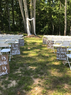 Gorgeous outdoor ceremony area