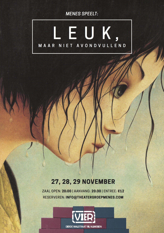 Poster 'Leuk' van Menes