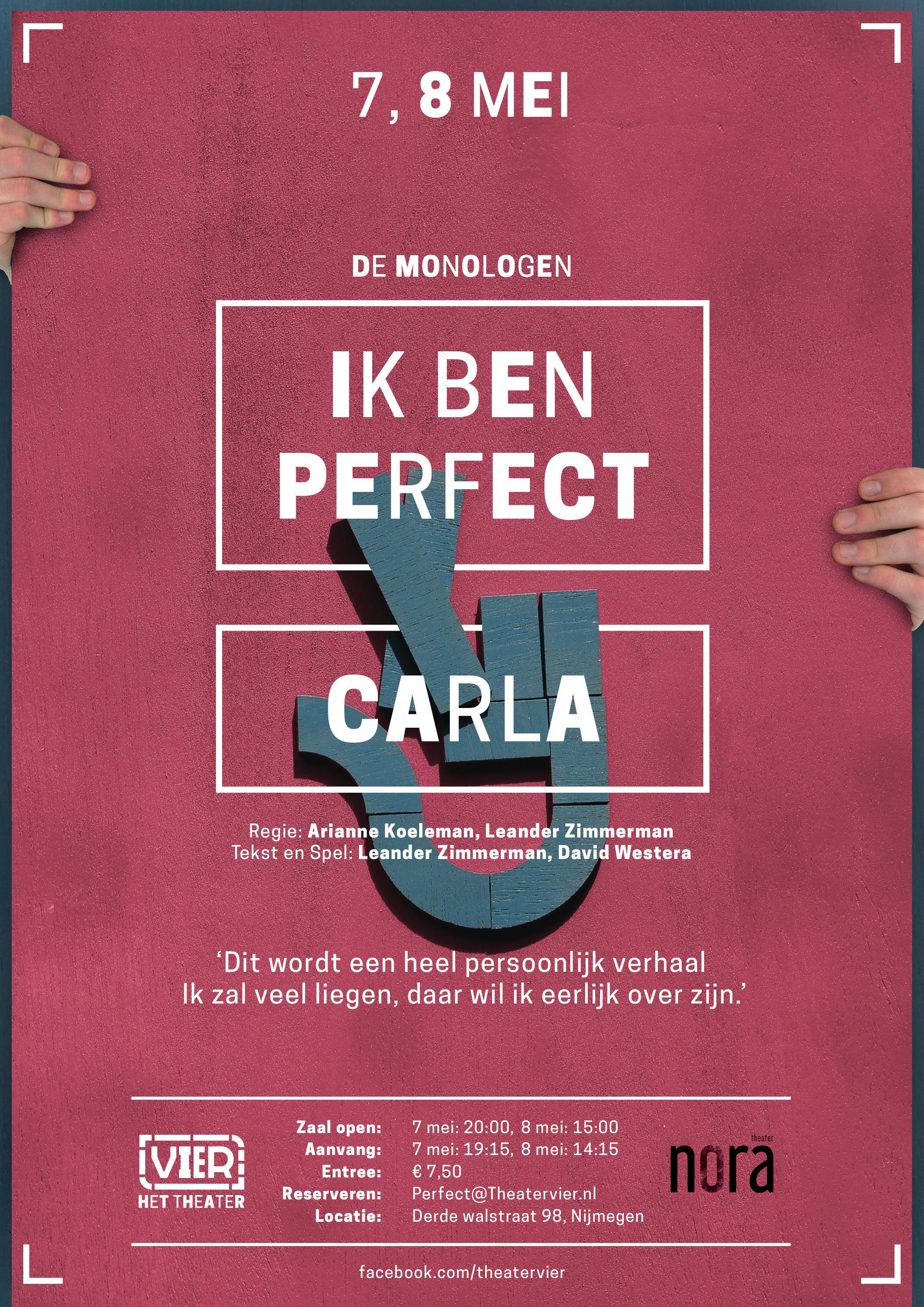 Poster 'VIER de monoloog #1'