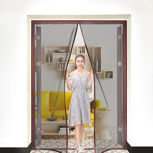 Magnetic Screen Door Curtain Anti-Mosquito Auto Closing Custom Size Easy Install