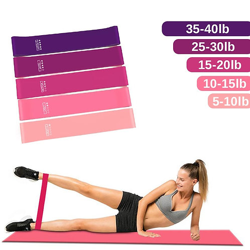 Workout Resistance Mini Bands Latex Elastic Fitness Bands for Sports Exercise