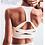 Thumbnail: White Strap Push Up Sports Bra for Women Gym Running Yoga Top Bra Athletic Vest