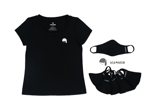 Super Stretchy Tee With Matching Face Cover