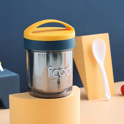 Stainless Steel Insulated Food Container Breakfast Cup With Spoon