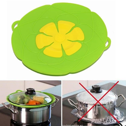Spill Stopper Lid Cover Silicone No Boil Over Lid  Kitchen Gadgets