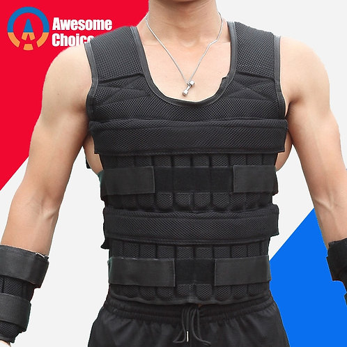 Up To 30kg Loading Weight Vest for Boxing Weight Training Workout  Adjustable