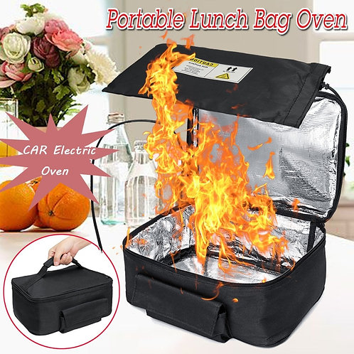 Mini Portable CAR Electric Oven Hot Food Picnic Camping Dinner Tote Heating Bag