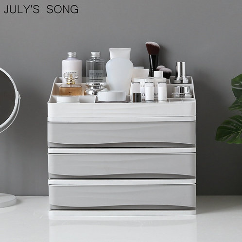Plastic Cosmetic Drawer Organizer Storage Container Storage Case