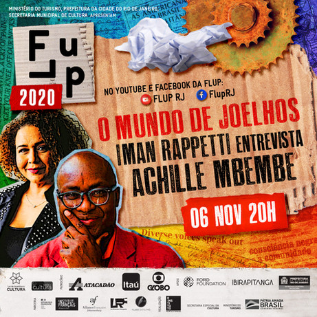 Achille Mbembe na Flup 2020!