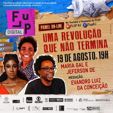 """""""Uma revolução que não termina"""", com Jeferson De, Maria Gal, e Evandro Luiz da Conceição"""