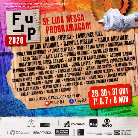 Saiu o line-up da Flup 2020!