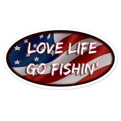 Love Life Go Fishin' Vinyl Decal