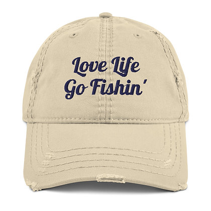 Distressed Love Life Go Fishin' Hat