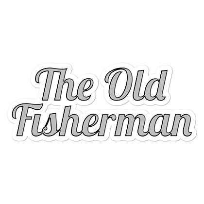The Old Fisherman Vinyl Decal
