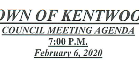 February Council Meeting Agenda