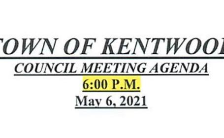 May 6 2021 Council Meeting Agenda