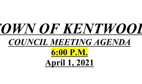 April 1 2021 Council Meeting Agenda