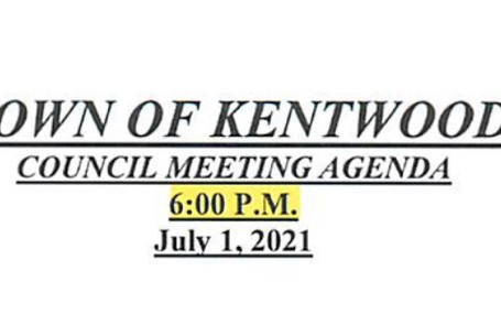 July 2021 Council Meeting Agenda