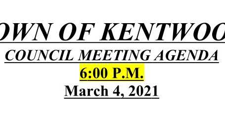 March 2021 Council Meeting Agenda