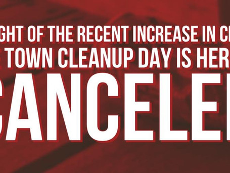 Town Cleanup Cancelled