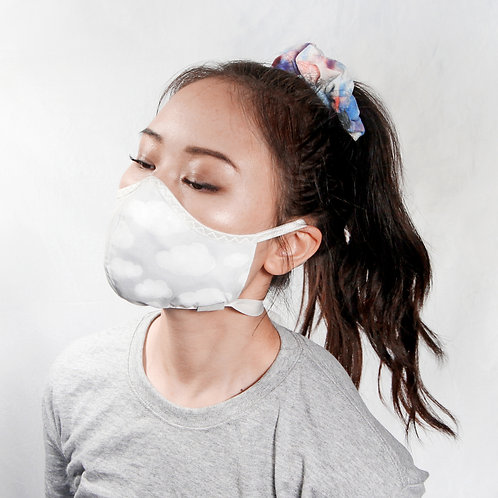 White Clouds Mask