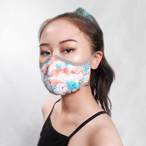 Tropical Flannel Face Mask