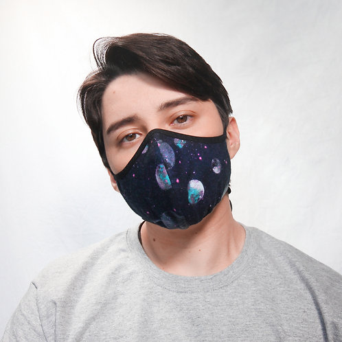 Galaxy Flannel Face Mask