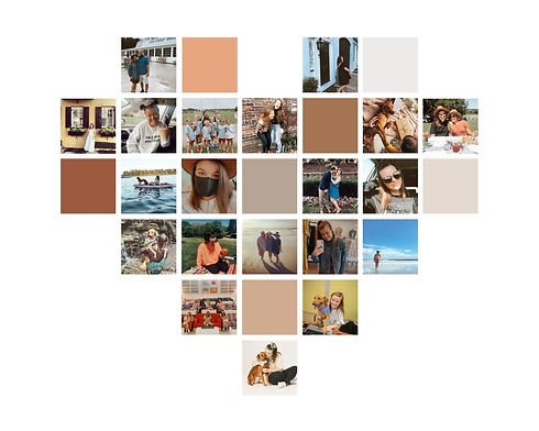 White and Pink Heart-Shaped Photo Collag