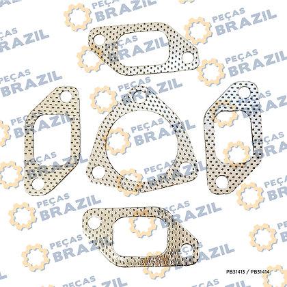 R230002A / Kit Junta de Escape e Silencioso Motor YTO / PB31413 / Peças Brazil