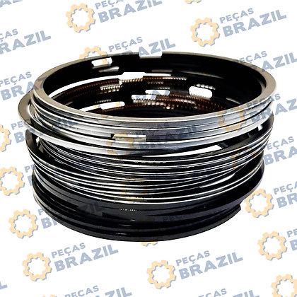 4110000108028 / Kit Anéis De Segmento Yuchai / PB31381 / Peças Brazil / SP106204 / A30-1004016 / 330-1004016