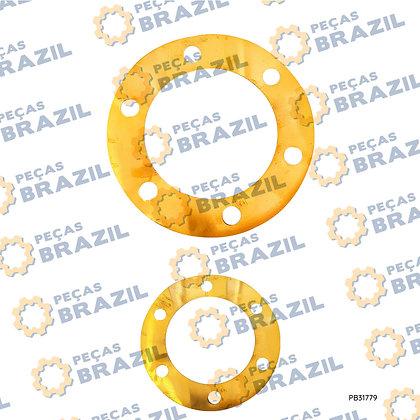 57A0121 / Calço De Ajuste Diferencial Latão / PB31779 / Peças Brazil / W043100520 / 79605003