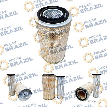 SP100570 / 4110000108003 / W018101821 / Conjunto Filtro de Ar / SP100551 / Peças Brazil / PB33036 / AE1047EX - AI300 - W01810