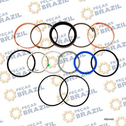 10C1853 / Kit Reparo Cilindro Braço LiuGong CLG922 / PB34480 / Peças Brazil / 88A1066