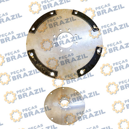 W020700020 / Conjunto Flex Plate com Espaçador SEM PB34061 / Peças Brazil / 5364546 / 80X350 / 8FUROS INT