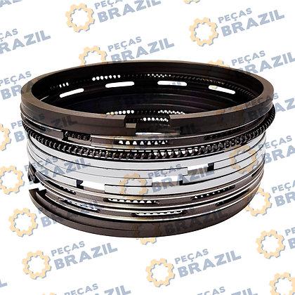 SP128293 / Kit Anéis de Segmento YTO 105MM LiuGong 816 / PB32001 / Peças Brazil / W018100391 / 05000207 / 5370308 / SP128293