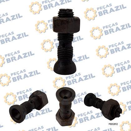 4110000054047/Parafuso Com Porca Do Balancim SDLG / PB32812 / Peças Brazil / 12159522 / 12159526 / SP106246