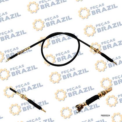 2912001097 / Cabo De Controle Hidráulico 2.30m SDLG LG933/936 / PB35024 / Peças Brazil