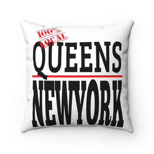 Queens NY Square Pillow
