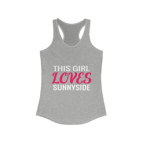 Sunnyside Loves Women's Ideal Racerback Tank