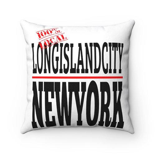 LIC NY Square Pillow