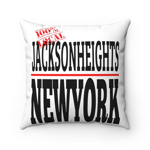 Jackson Heights NY Square Pillow
