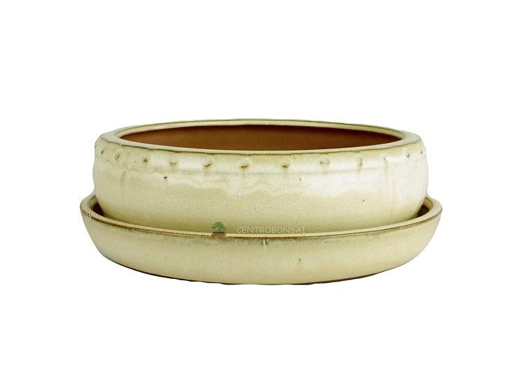 Maceta Bonsái Circular Y Plato 21,5 cm