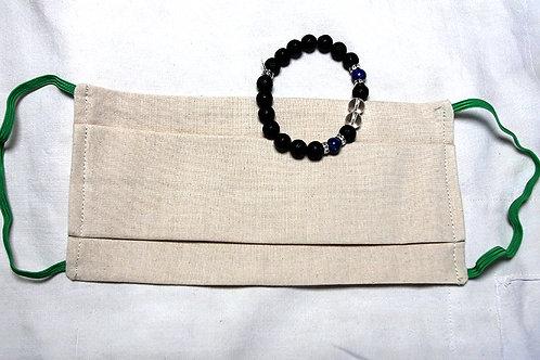 """Pack Masque XL & Bracelet aromathérapie """"Immunité"""""""