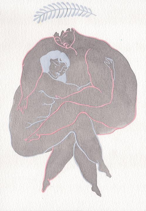 custom painting (two figures)